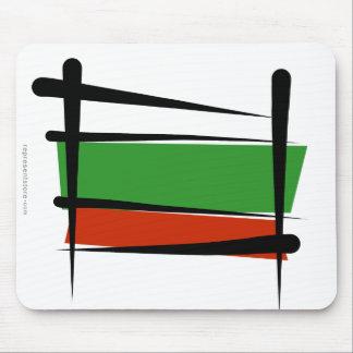 Bulgaria Brush Flag Mouse Pad