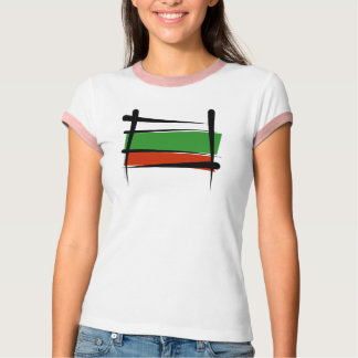 Bulgaria Brush Flag Tee Shirts
