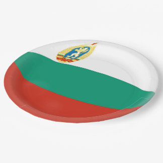 Bulgaria Bulgarian Flag Paper Plate