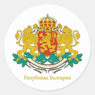 Bulgaria COA Classic Round Sticker