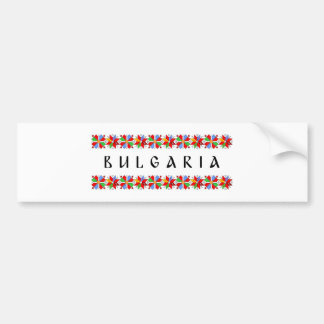 bulgaria country symbol name text folk motif tradi bumper sticker
