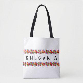 bulgaria country symbol name text folk motif tradi tote bag