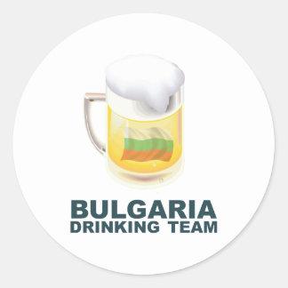 Bulgaria Drinking Team Classic Round Sticker