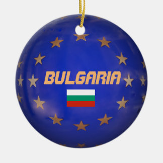Bulgaria European Circle Christmas Ornament