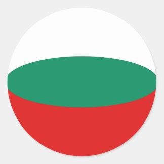 Bulgaria Fisheye Flag Sticker