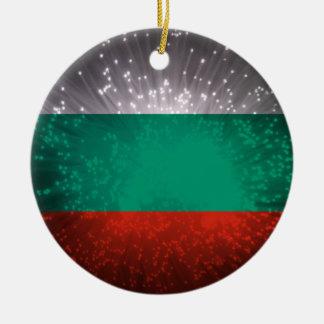 Bulgaria Flag Firework Christmas Ornament