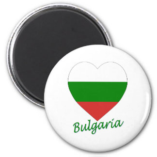 Bulgaria Flag Heart Magnet