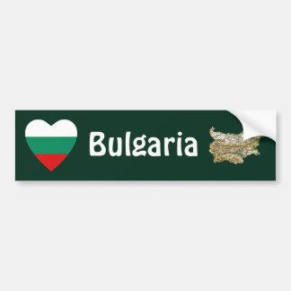 Bulgaria Flag Heart + Map Bumper Sticker