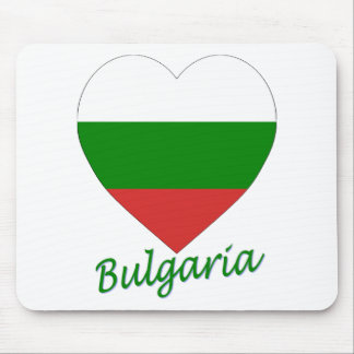 Bulgaria Flag Heart Mouse Pads