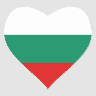 Bulgaria Flag Heart Sticker