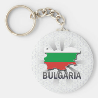 Bulgaria Flag Map 2.0 Key Ring