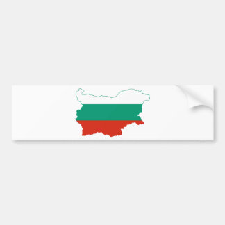 Bulgaria Flag map BG Bumper Sticker