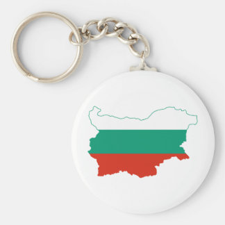 Bulgaria Flag map BG Key Ring