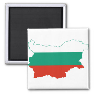 Bulgaria Flag map BG Magnet