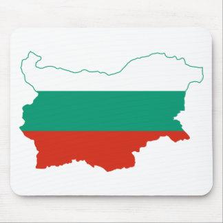 Bulgaria Flag map BG Mouse Pad