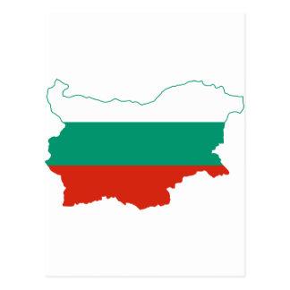 Bulgaria Flag map BG Postcard