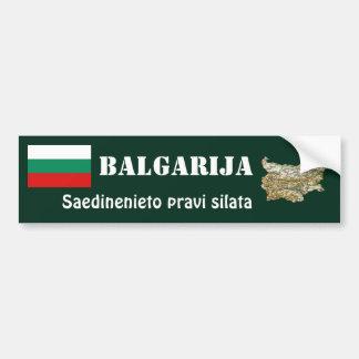 Bulgaria Flag + Map Bumper Sticker