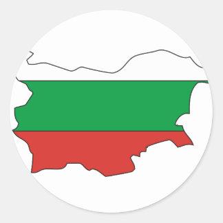 Bulgaria flag map classic round sticker