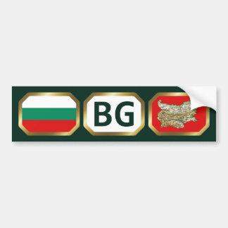 Bulgaria Flag Map Code Bumper Sticker