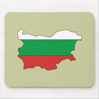 Bulgaria flag map mouse mats