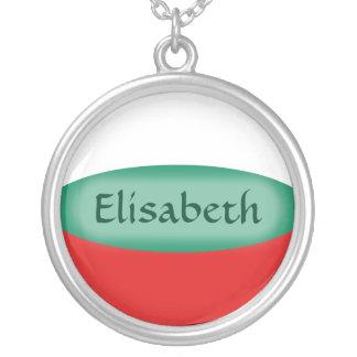Bulgaria Flag + Name Necklace