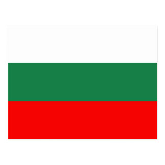 Bulgaria flag postcard