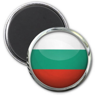 Bulgaria Flag Round Glass Ball Magnet
