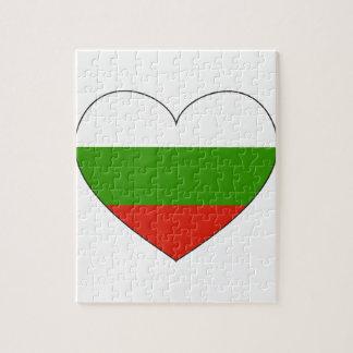 Bulgaria Flag Simple Jigsaw Puzzle
