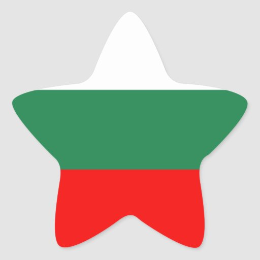 Bulgaria flag star sticker