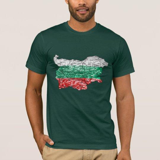 Bulgaria Flagcolor Map T-Shirt