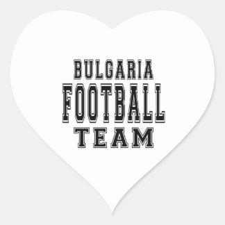 Bulgaria Football Team Heart Stickers
