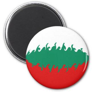 Bulgaria Gnarly Flag 6 Cm Round Magnet