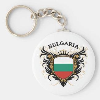 Bulgaria Basic Round Button Key Ring