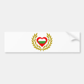 bulgaria-laurel-heart bumper sticker