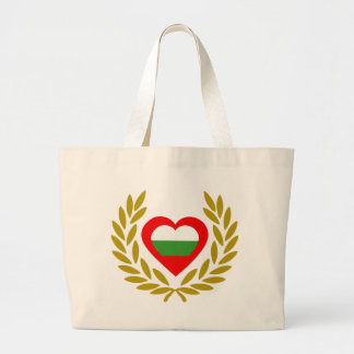 bulgaria-laurel-heart large tote bag