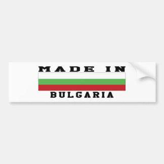 Bulgaria Made In Designs Bumper Sticker