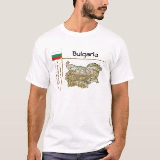 Bulgaria Map + Flag + Title T-Shirt