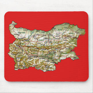 Bulgaria Map Mousepad