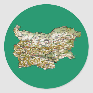 Bulgaria Map Sticker