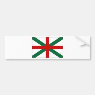 Bulgaria Naval Jack Flag Car Bumper Sticker