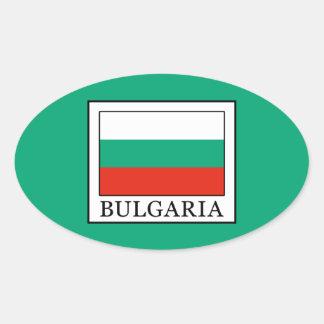 Bulgaria Oval Sticker