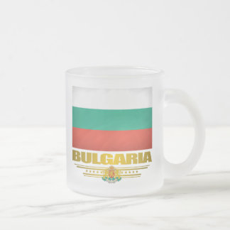 Bulgaria Pride Frosted Glass Coffee Mug