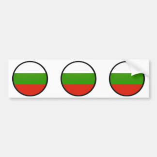 Bulgaria quality Flag Circle Bumper Sticker