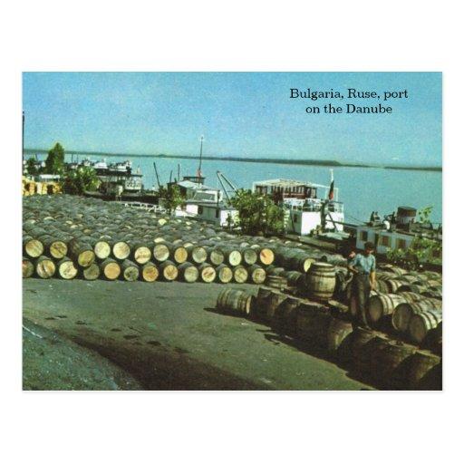 Bulgaria, Ruse, port on the Danube Post Card
