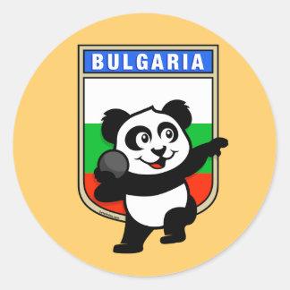 Bulgaria Shot Put Panda Classic Round Sticker