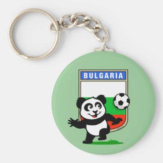 Bulgaria Soccer Panda Key Ring