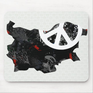 Bulgaria Trendy Peace Sign with Bulgarian map Mouse Pad