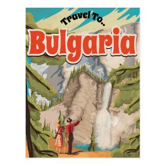 Bulgaria Vintage Travel Poster Postcard