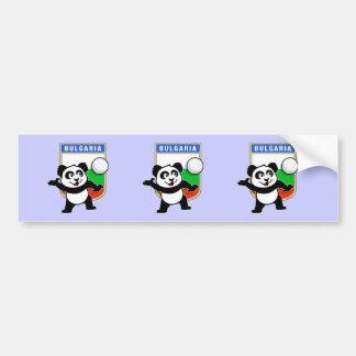 Bulgaria Volleyball Panda Bumper Sticker