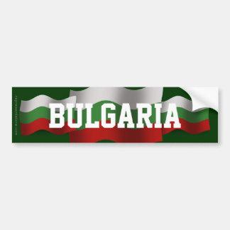 Bulgaria Waving Flag Bumper Sticker